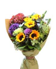 Sunflower Hydrangea bouquet