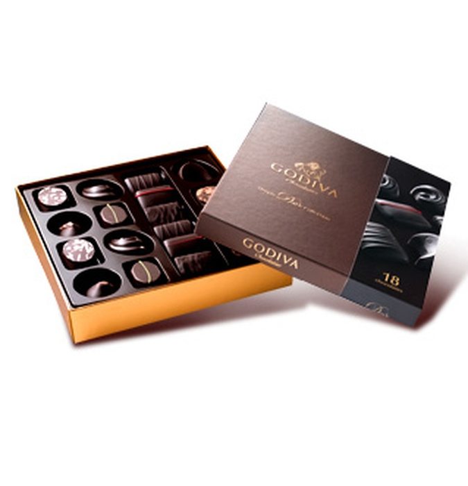 Gift Box Hk : Godiva dark chocolate gift box psc